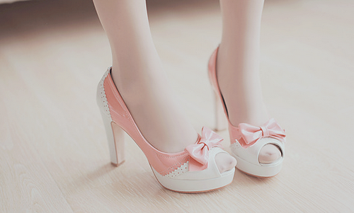 Pink And White Pumps