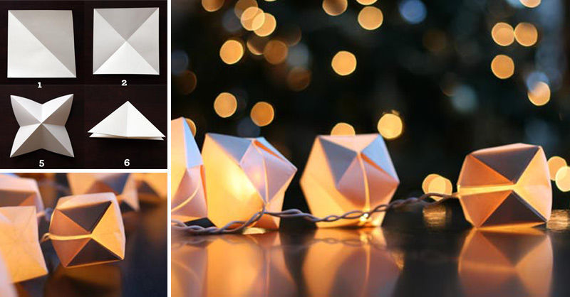 DIY Paper Cube String Lights Pictures, Photos, and Images for Facebook, Tumblr, Pinterest, and ...