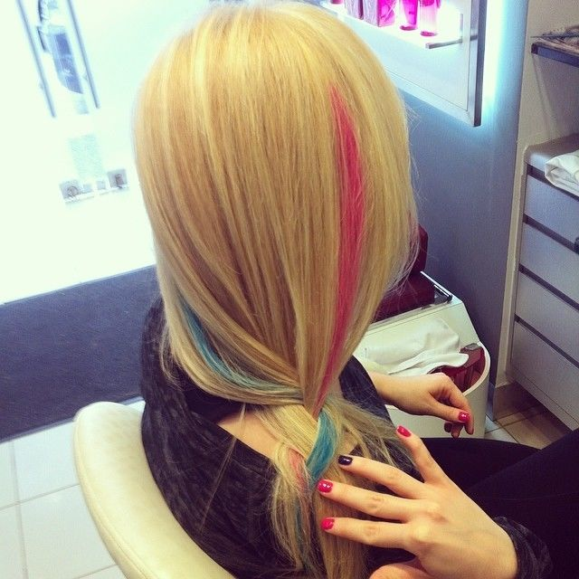 Colored Streak Blonde Hair Pictures Photos And Images For Facebook