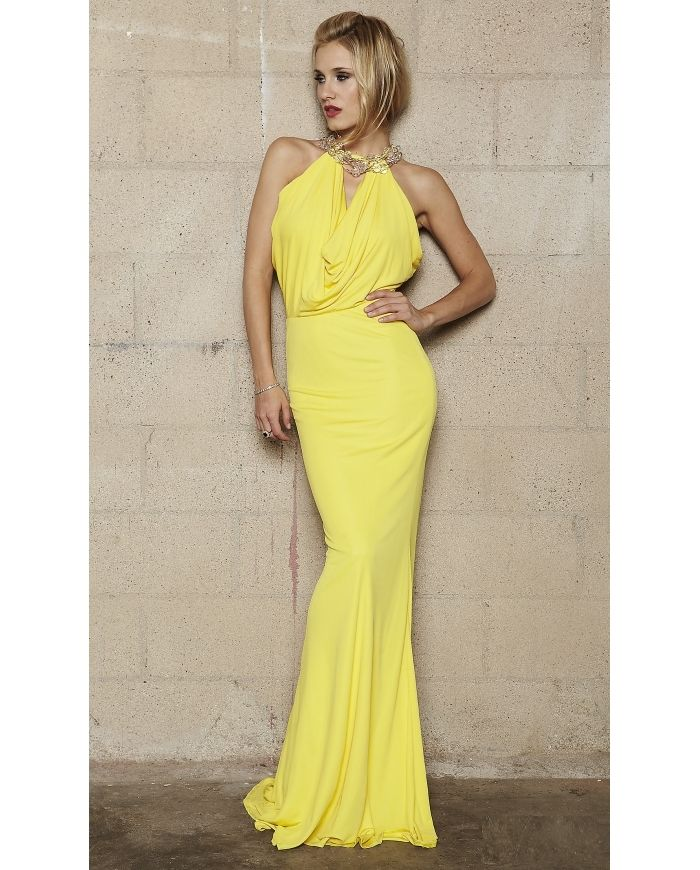 Form Fitting Yellow Evening Dress Pictures Photos and Images for ...