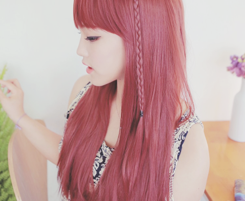 Korean Red Hair Pictures Photos And Images For Facebook Tumblr - Korean hairstyle on tumblr