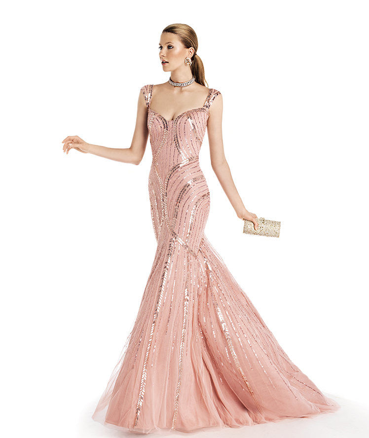 Stunning pink evening gown pictures photos and images for facebook