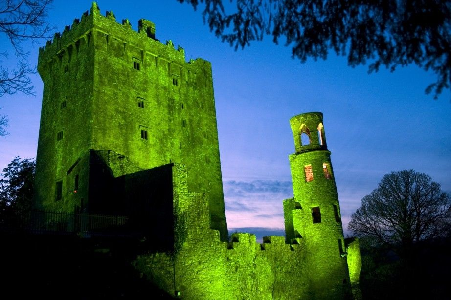 A Castle In Ireland Turned Green For St Patrick S Day