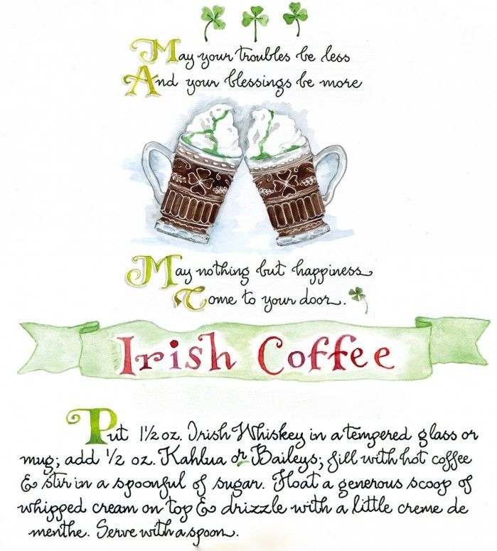 Irish Coffee Recipe Pictures, Photos, And Images For