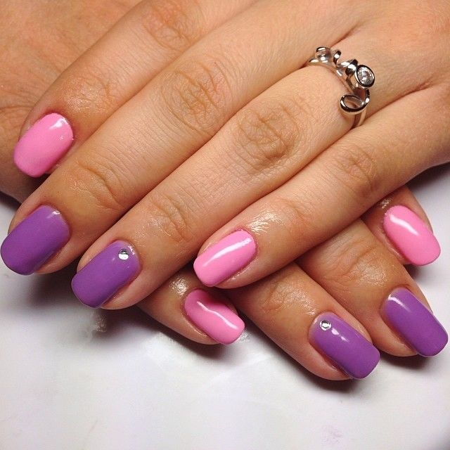 Pink And Purple Nail Mix Pictures Photos And Images For Facebook Tumblr Pinterest And Twitter