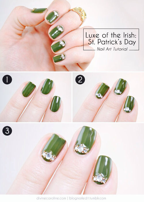 St Patrick\'s Day Nail Tutorials Pictures, Photos, and Images for ...