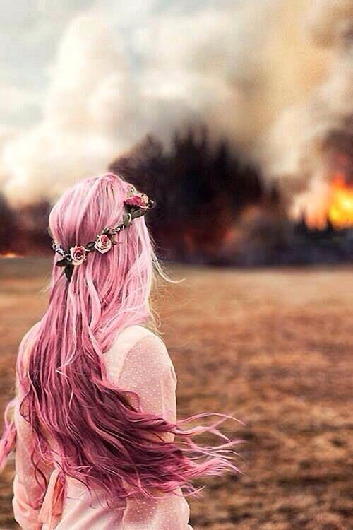Pink Hair With Flower Crown Pictures Photos And Images