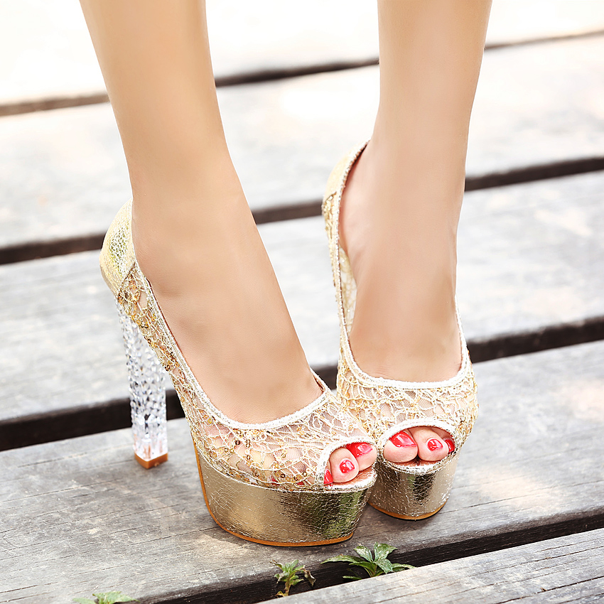 Open Toe Crystal High Heels Pictures, Photos, And Images