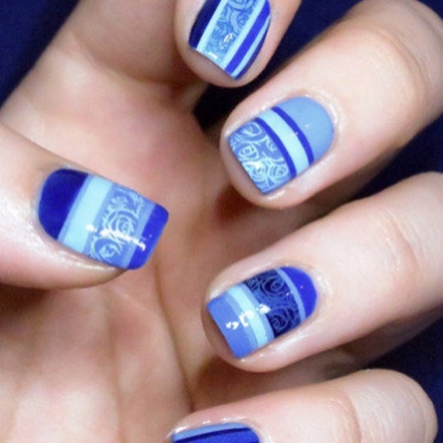 Blue Gel Polish Nails Pictures, Photos, and Images for Facebook ...