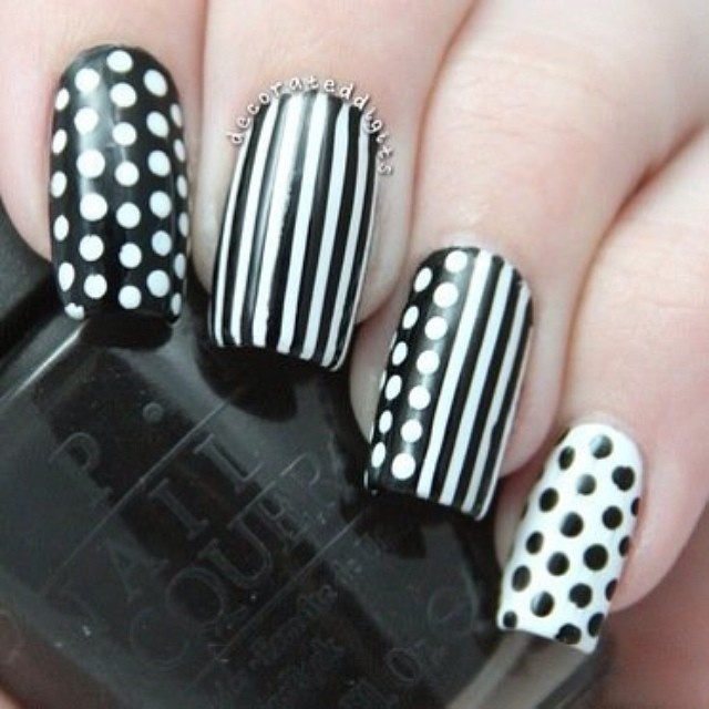 Black And White Nail Designs Pictures, Photos, and Images ...