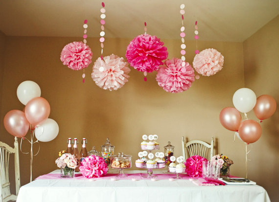 Pink Party And Shower DIY Decoration