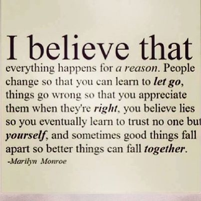 I believe that everything happens for a reason essay