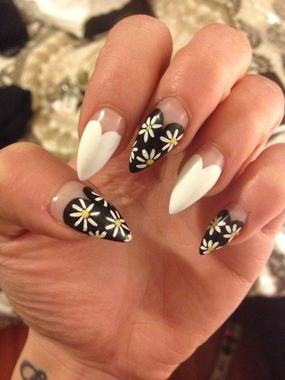 Heart And Daisy Nail Design Pictures Photos And Images For
