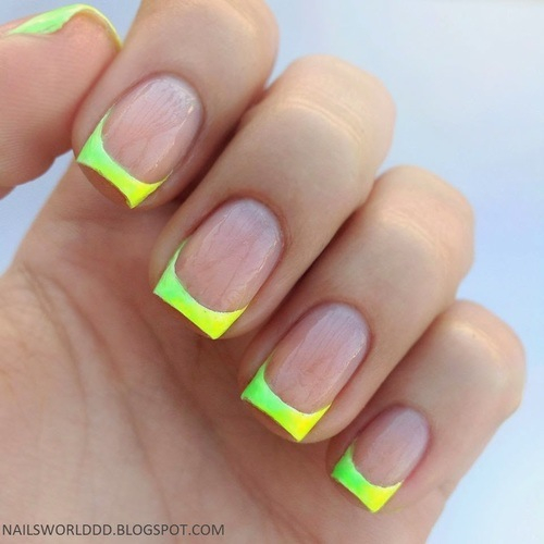 Neon Green French Tip Nails Pictures, Photos, and Images ...