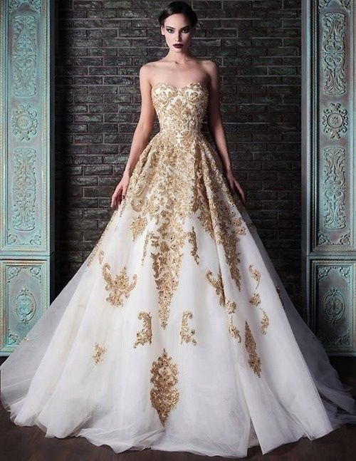 Gorgeous Gold And White Gown Pictures, Photos, and Images for ...