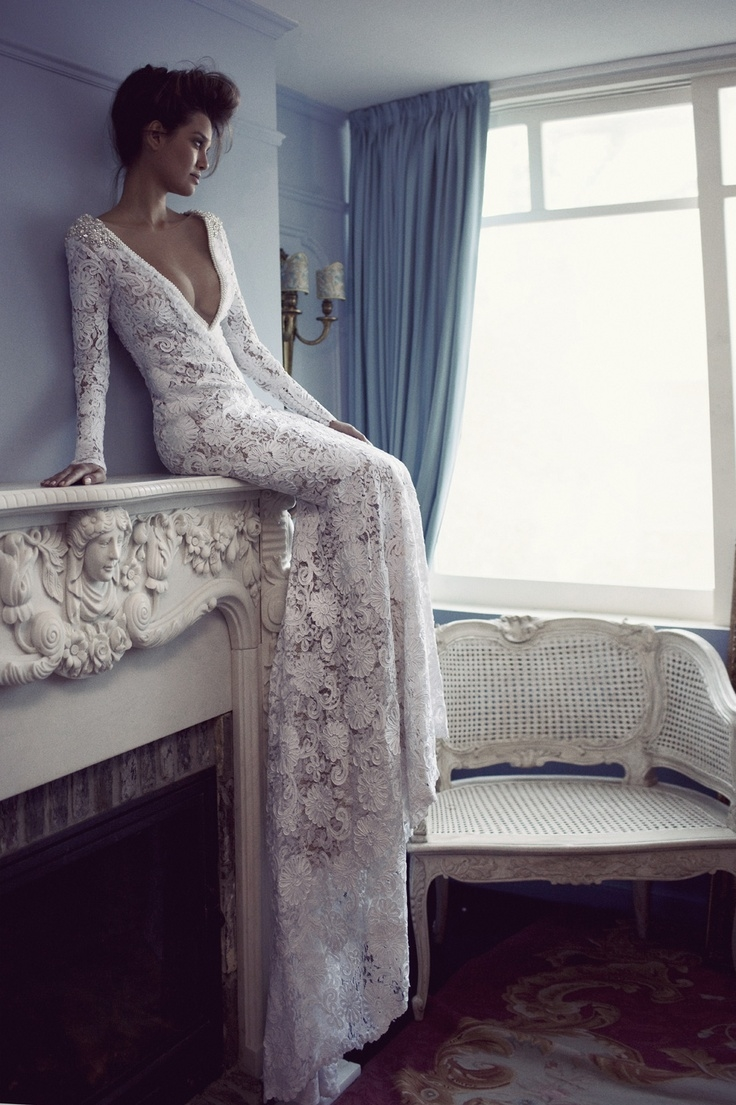 Long Sleeved Lace Wedding Dress Pictures Photos And Images For