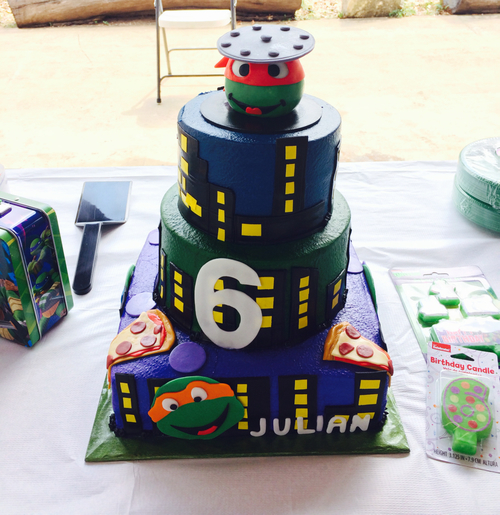 Diy Ninja Turtle Birthday Cake