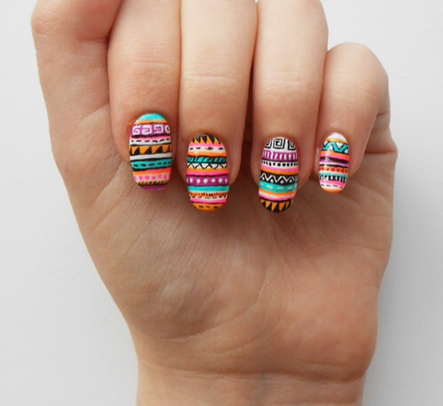 Aztec nail design - Aztec Nail Design Pictures, Photos, And Images For Facebook, Tumblr