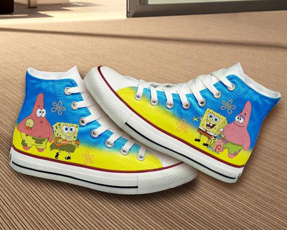 Image - High-quality-spongebob-squarepants-nikes-dunk-shoes-yellow