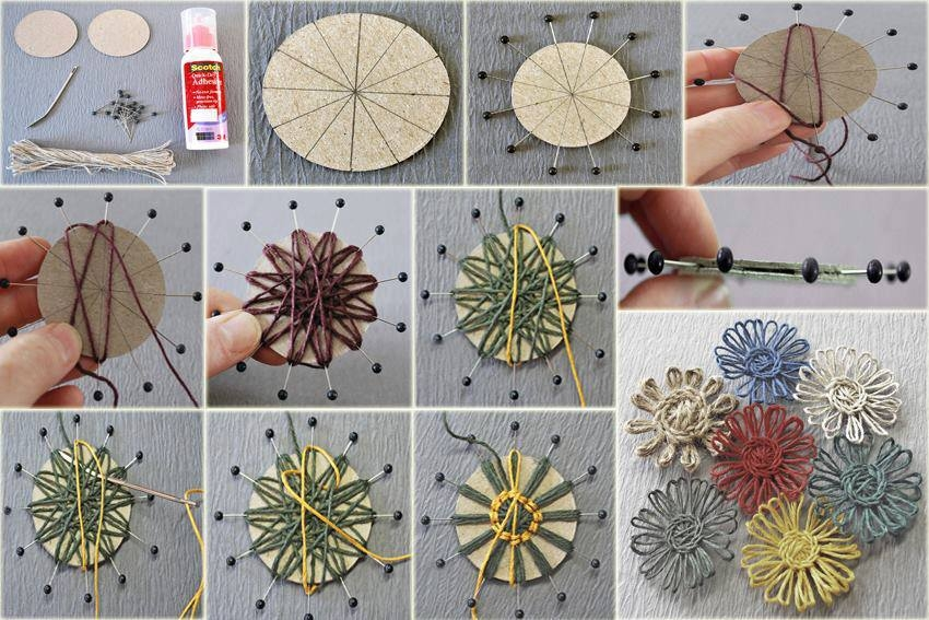 Diy Easy Yarn Flower Pictures Photos And Images For