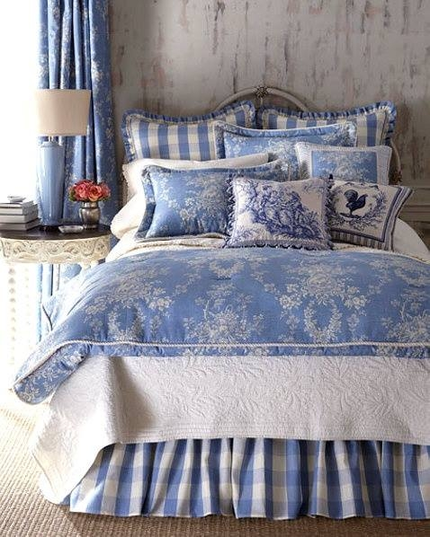 Pretty Blue & White Bedroom Pictures, Photos, and Images ...