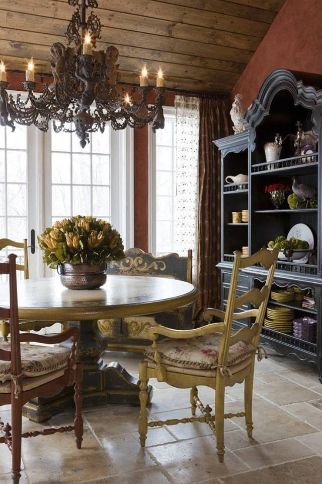 French country dining room pictures photos and images for Country kitchen dining room ideas