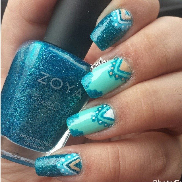 Blue Tribal Nail Design Pictures Photos And Images For Facebook