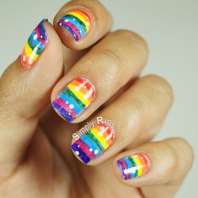 Rainbow Nail Art Pictures, Photos, and Images for Facebook, Tumblr