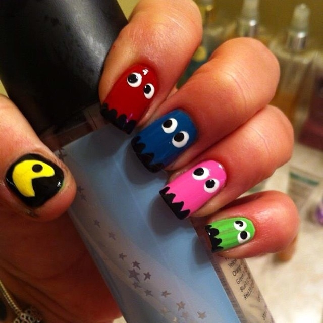 Pac man nails pictures photos and images for facebook tumblr pac man nails prinsesfo Image collections