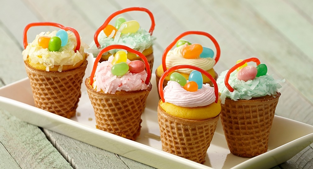Easter basket cupcakes recipe pictures photos and images for easter basket cupcakes recipe negle Images