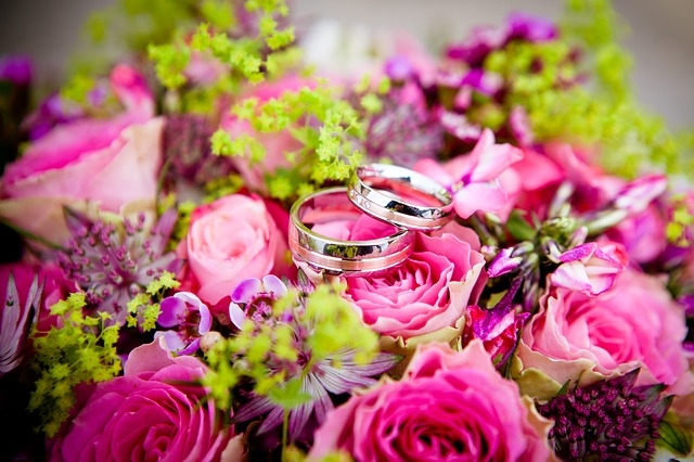 Wedding Rings And Flowers Pictures Photos and Images for