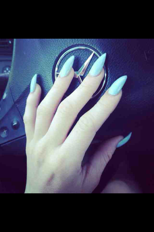 baby blue stiletto nails pictures photos and images for