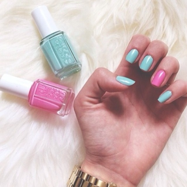 Essie Pink And Blue Nails Pictures, Photos, and Images for Facebook ...