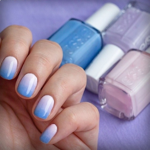 Blue Lavender Gradient Nails Pictures Photos And Images For