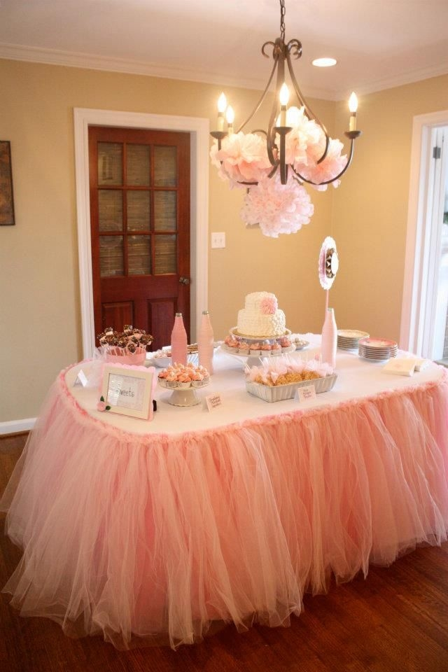 Pink elegant baby shower theme pictures photos and for Baby shower decoration ideas pinterest