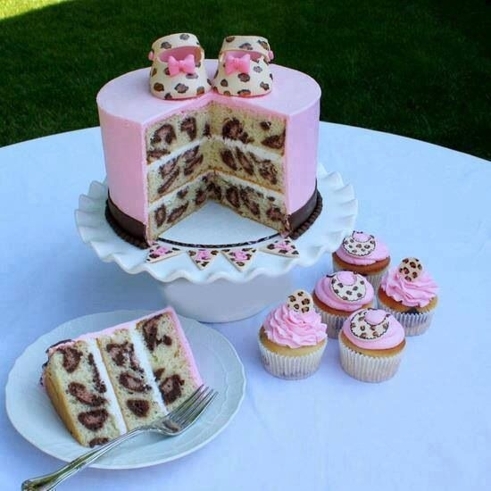 Cheetah Print Cake And Cupcakes Pictures Photos and Images for