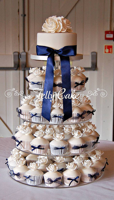 Navy And Ivory Wedding Cupcakes Pictures, Photos, and Images for ...