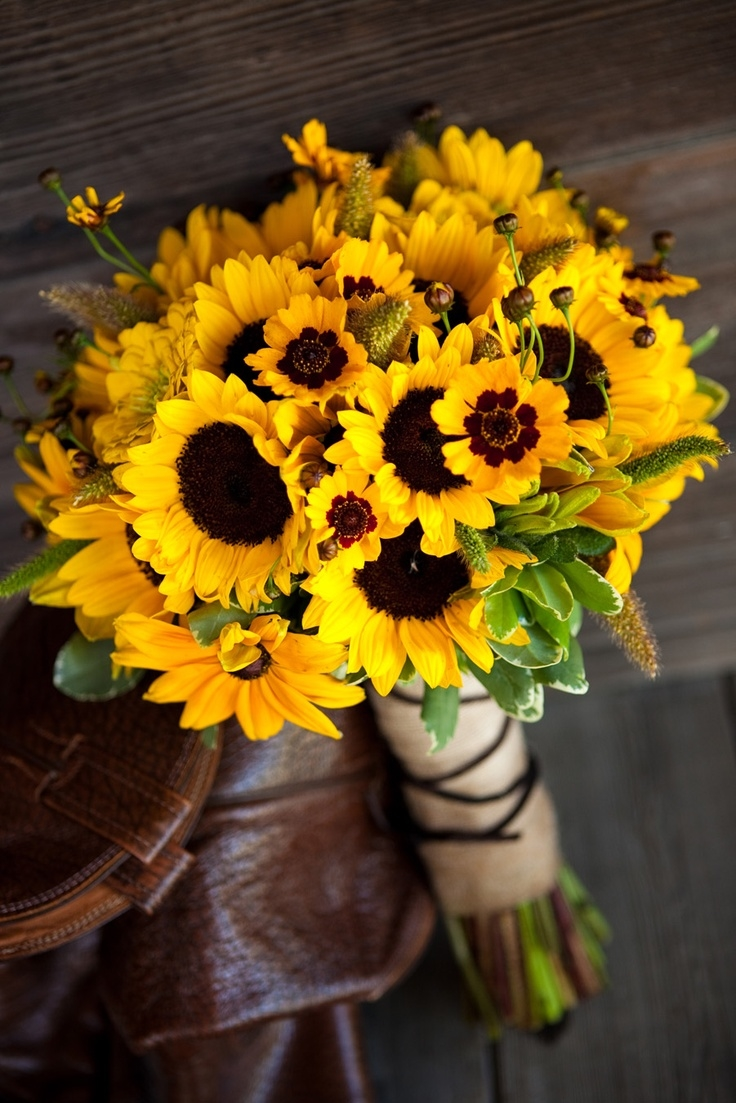 Bridesmaid Bouquets Sunflowers : Beautiful sunflower bouquet pictures photos and images