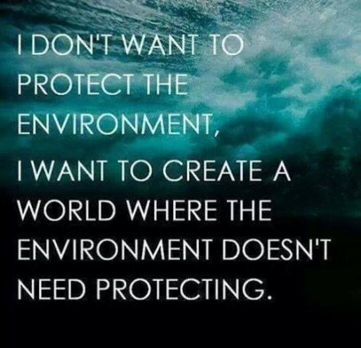 Protect Nature Quotes: I Dont Want A Perfect Environment Pictures, Photos, And