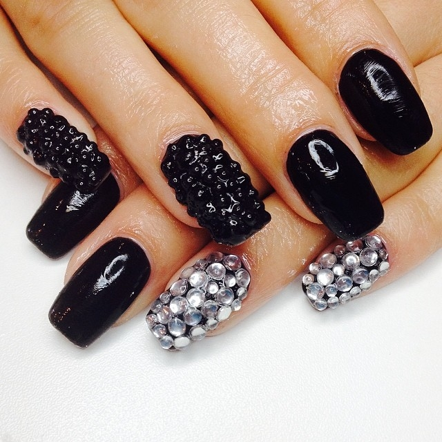 Black And Silver Nails Pictures, Photos, And Images For
