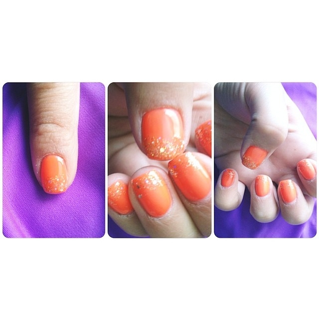 Orange Gel Nails Pictures, Photos, and Images for Facebook, Tumblr