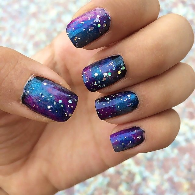 Galaxy Glittery Nails Pictures, Photos, and Images for Facebook ...