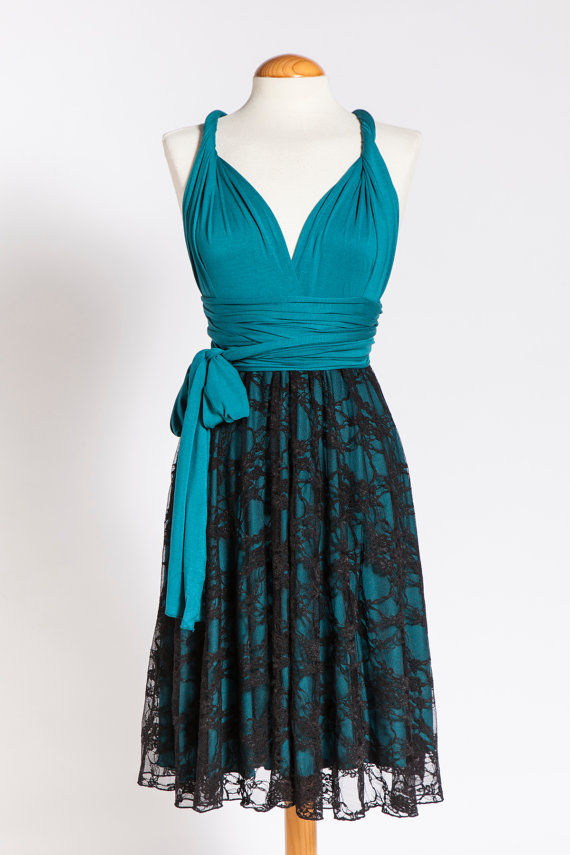Bridesmaid Dresses Turquoise And Black - Mother Of The Bride Dresses
