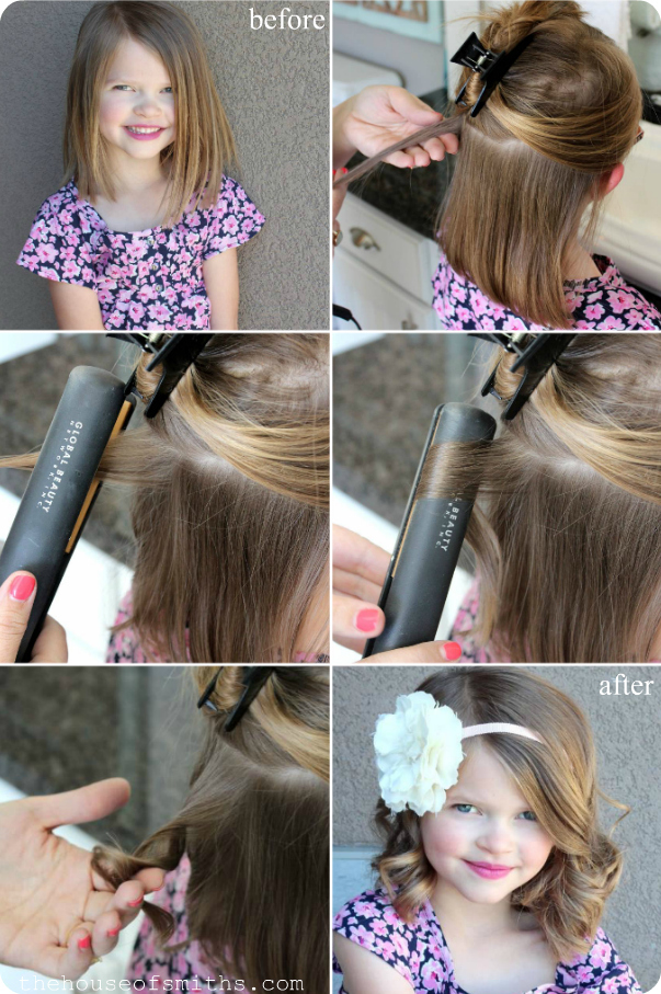 Flat Iron Curling Hair Tutorial Pictures Photos And