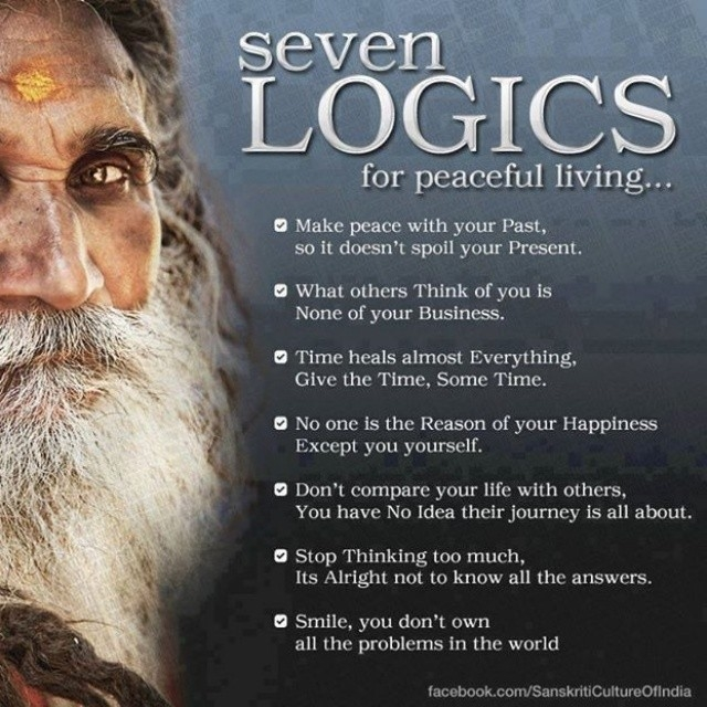 Seven Logics For Peaceful Living Pictures Photos And