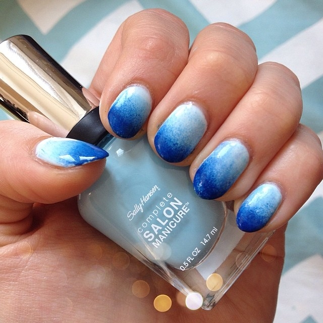 Blue Ombre Nails Pictures Photos And Images For Facebook