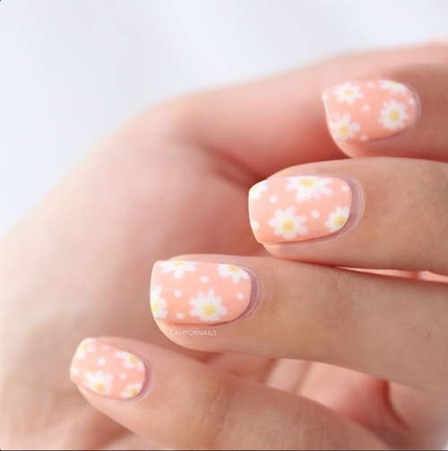 Pastel Daisy Nails Pictures Photos And Images For Facebook Tumblr Pinterest And Twitter