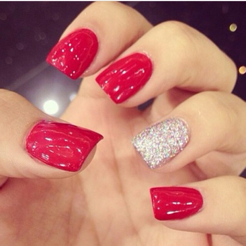 Red Glitter Nails Pictures, Photos, and Images for ...