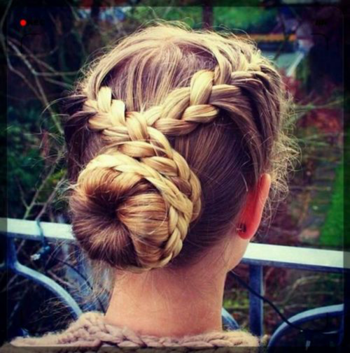 Marvelous Cross Braid To Bun Hairstyle Pictures Photos And Images For Hairstyle Inspiration Daily Dogsangcom