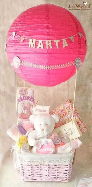 Hot air balloon gift basket pictures photos and images for facebook tumblr pinterest and